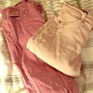 James jeans guc 2 for $30 light pink & dark pink